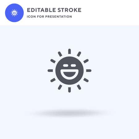 Sunny icon vector, filled flat sign, solid pictogram isolated on white, logo illustration. Sunny icon for presentation. Illusztráció