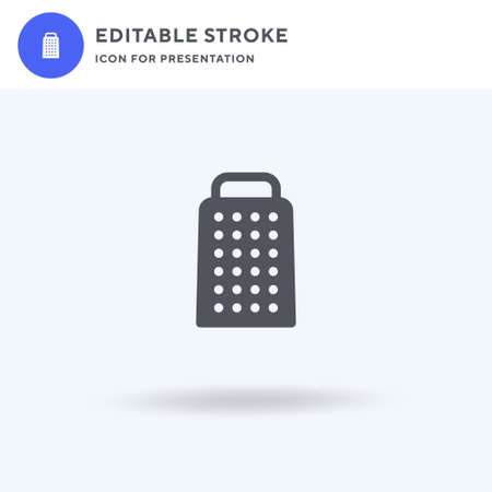 Grater icon vector, filled flat sign, solid pictogram isolated on white, logo illustration. Grater icon for presentation.