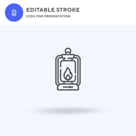 Oil Lamp icon vector, filled flat sign, solid pictogram isolated on white, logo illustration. Oil Lamp icon for presentation.
