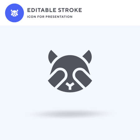 Racoon icon vector, filled flat sign, solid pictogram isolated on white, logo illustration. Racoon icon for presentation.