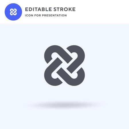 Interlocking icon vector, filled flat sign, solid pictogram isolated on white, logo illustration. Interlocking icon for presentation.