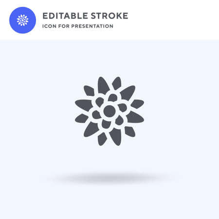 Flower icon vector, filled flat sign, solid pictogram isolated on white, logo illustration. Flower icon for presentation.