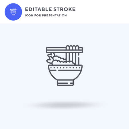 Udon icon vector, filled flat sign, solid pictogram isolated on white, logo illustration. Udon icon for presentation.