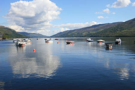 awe: Loch Awe, vista in the Scottish Highlands Stock Photo