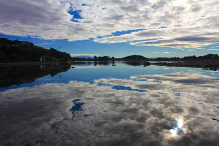 oamaru: Reflections in the river, New Zealand Stock Photo