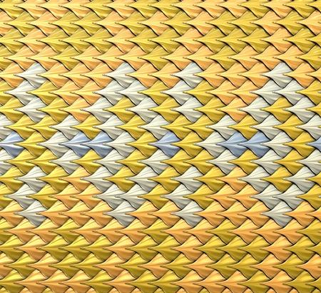 Fantasie metallic squama. Abstracte achtergrond of textuur. 3d illustratie Stockfoto