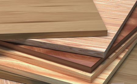 CPD with the texture of the tree. Laminate boards dark and light.