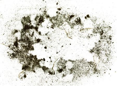 Kader dat van grond wordt gemaakt en vuil op witte achtergrond