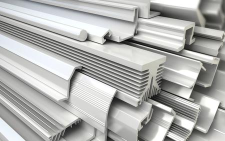 Extrudierte Kunststoffprofile. Industrielle 3D-Illustration Standard-Bild - 36598130