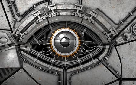Robot eyes 3d illustration Banco de Imagens - 37202040