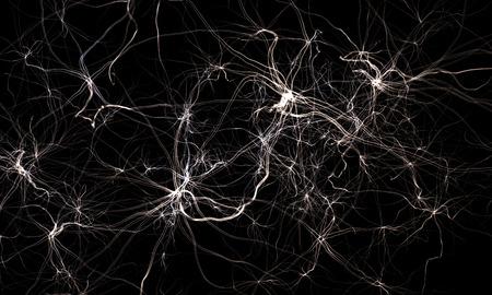 Nervensystem oder abstrakte Netzwerksystem. Wissenschaft 3d illustration Standard-Bild - 37202075