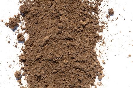 Hellbraun Boden auf weißem Hintergrund Standard-Bild - 37202140