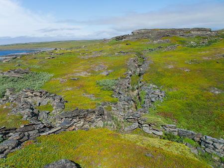 trenches: the trenches of the last century on the Kola Peninsula