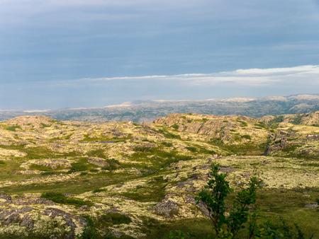 alpine tundra: Plateau under cloudy sky: northern mountain landscape