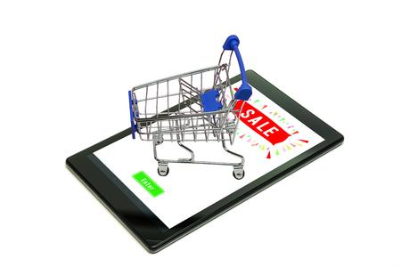 Konzepthintergrund des Online-Shoppings.