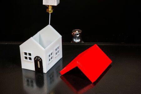 A house made with a 3D printer Foto de archivo