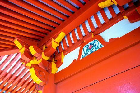 Red-painted eaves 写真素材