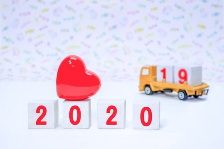 Images to organize blocks for the 2020 New Year's preparations