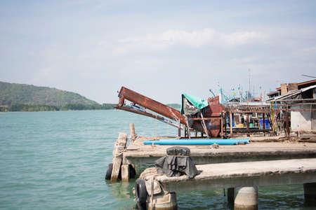 Old dock in chanthaburi,thailand