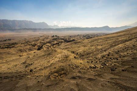 whispering: Whispering sands at mount Bromo.