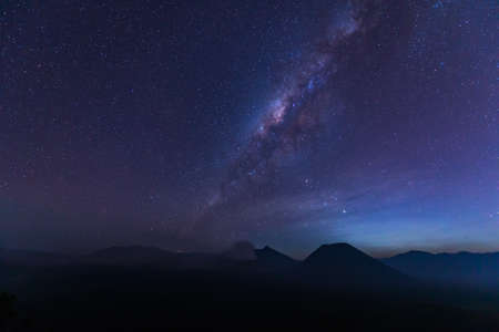 otherworldly: The Milky Way over the bromo volcano