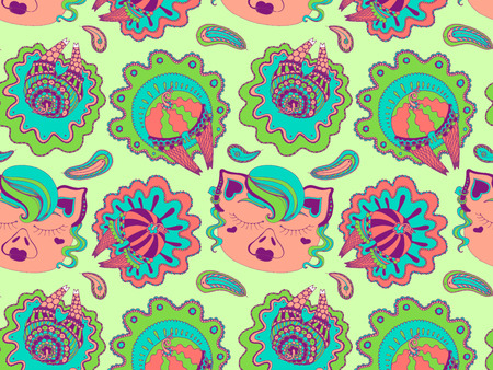 ass pigs in skirts pattern, symbol of 2019