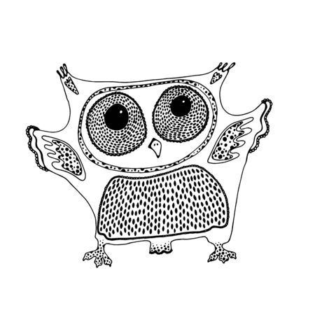Owl design vector template