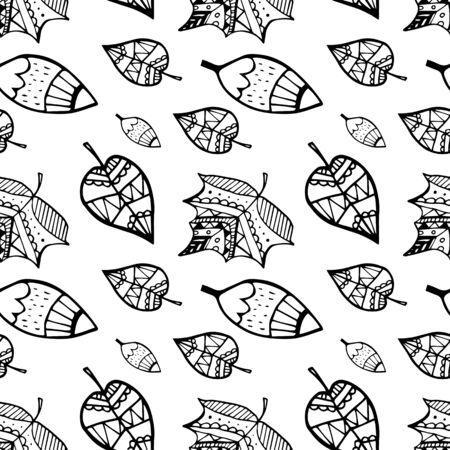 Chute des feuilles. Feuilles d'automne . Modèle sans couture pour textile, papiers peints, emballages cadeaux et scrapbook. Vecteurs