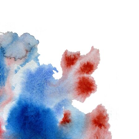 Watercolor drop. watercolor abstract background. watercolor stains. flowing watercolor paint of cold shades. red, blue, pink, purple on a white background. drawing for textile products, packaging paper, craft packaging, photo wallpaper