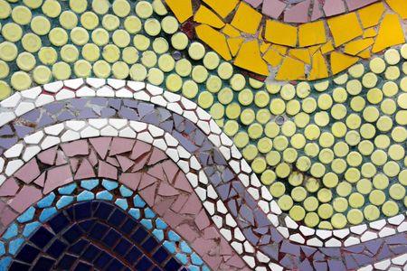 pastiche: Swirl design mosaic Stock Photo