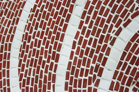 mishmash: Curve line mosaic Stock Photo