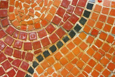 pastiche: Curve line mosaic Stock Photo