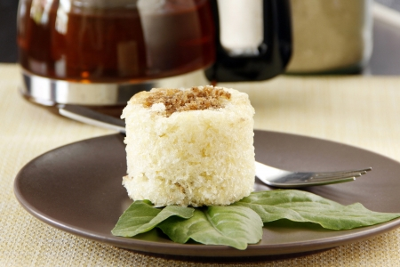 Cassava cake top with grated sweet coconut meat  photo
