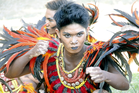 pageant: MANILA APRIL 16: Contingent in The Aliwan Fiesta on April 16, 2016 in Manila, Philippines.  Aliwan celebrated with cultural presentation & street dance competition.