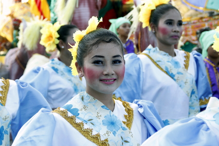 contingent: MANILA APRIL 16: Contingent in The Aliwan Fiesta on April 16, 2016 in Manila, Philippines.  Aliwan celebrated with cultural presentation & street dance competition.