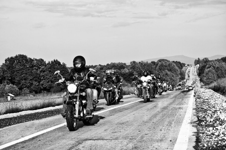 bikers on the road