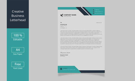 Modern Business Letterhead Design Template. Professional Letterhead Template