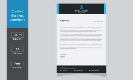 Corporate Business Letterhead template. modern letterhead template