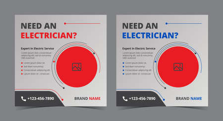 Expert in electric poster, Electrician social media post and flyer