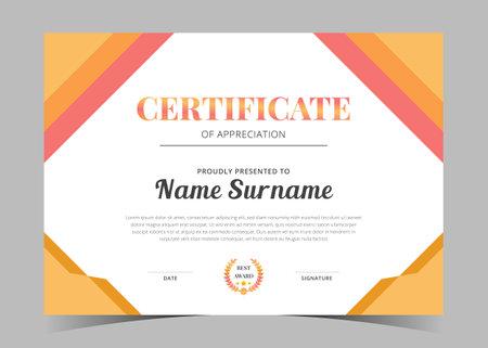 awards diploma. Professional Certificate Template, Minimalist certificate template