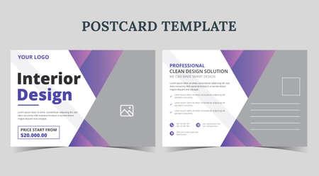 Home for sale postcard design, real estate postcard template, real estate promotion postcard Vetores