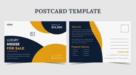 Home for sale postcard design, real estate postcard template, real estate promotion postcard