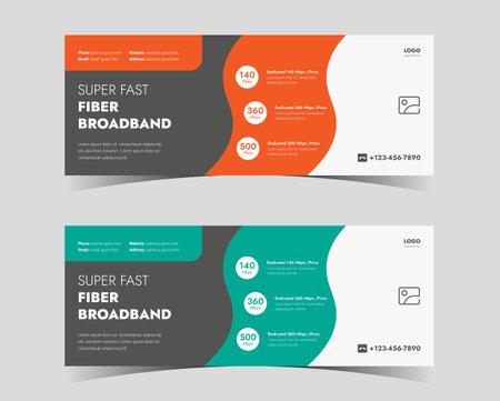 broadband service social media cover. high speed internet service social media cover. internet service provider social media cover design