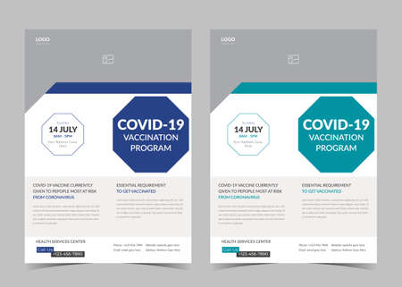 Vaccination flyer template. Vaccination clinic flyer. Vaccine leaflet template. Covid vaccination flyer.