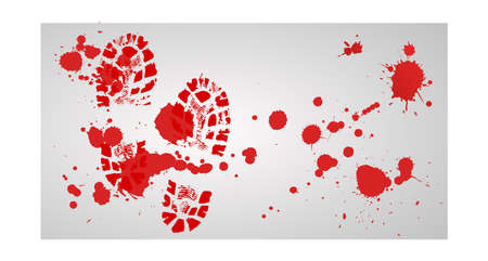 Blood and footstep