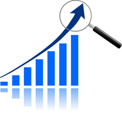 stock market chart: Graph Analysis Illustration