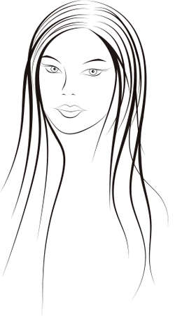 make up woman: Girl Illustration