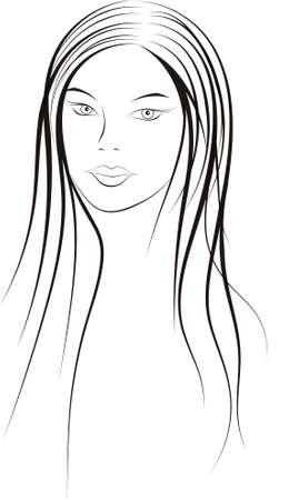 make up model: Girl Illustration