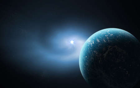 Blue Space  Standard-Bild - 8018684