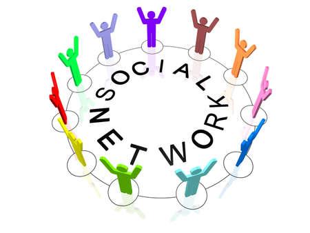 Social Network Standard-Bild